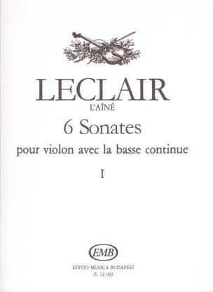 6 Sonates Volume 1 LECLAIR Partition Violon - laflutedepan