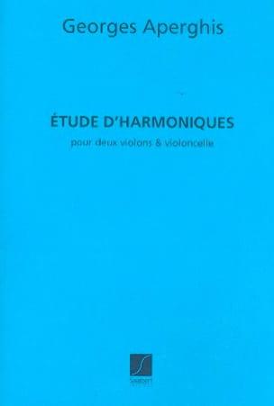 Etude d'harmoniques Georges Aperghis Partition Trios - laflutedepan