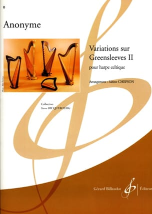 Variations sur Greensleeves 2 Partition Harpe - laflutedepan
