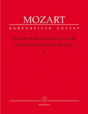 oeuvres complètes pour violon et piano volume 2 MOZART laflutedepan