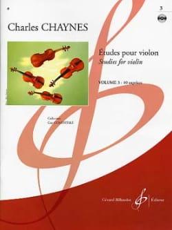Etudes pour violon Volume 3 Charles Chaynes Partition laflutedepan