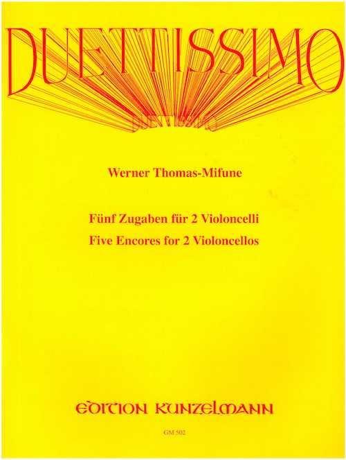 Duettissimo - Werner Thomas-Mifune - Partition - laflutedepan.com