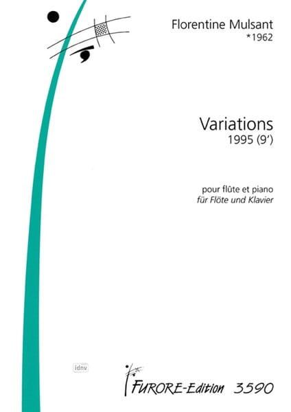 Variations - Florentine Mulsant - Partition - laflutedepan.com