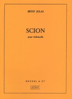 Scion Betsy Jolas Partition Violoncelle - laflutedepan