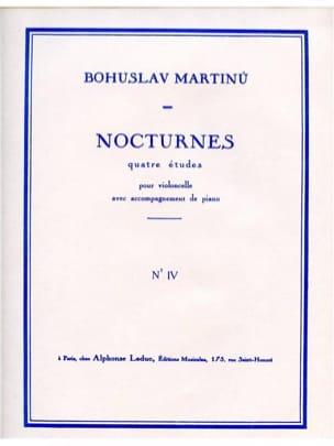 Nocturne n° 4 MARTINU Partition Violoncelle - laflutedepan