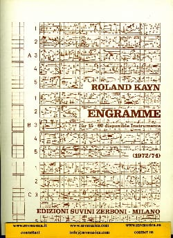 Engramme Roland Kayn Partition Grand format - laflutedepan