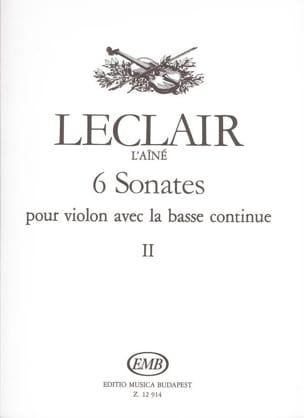 6 Sonates Volume 2 LECLAIR Partition Violon - laflutedepan