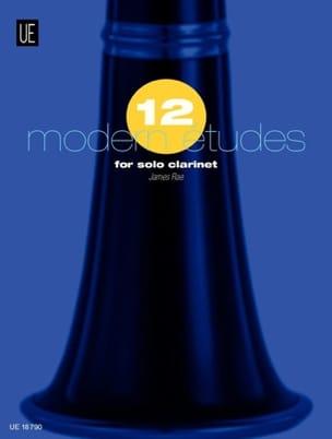 12 Modern Etudes - Clarinet James Rae Partition laflutedepan