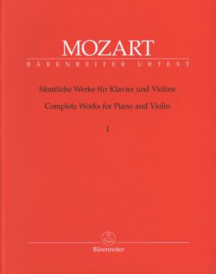 Oeuvres complètes pour violon et piano volume 1 MOZART laflutedepan