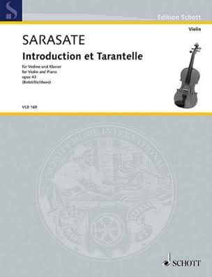 Introduction et Tarantelle, op. 43 SARASATE Partition laflutedepan