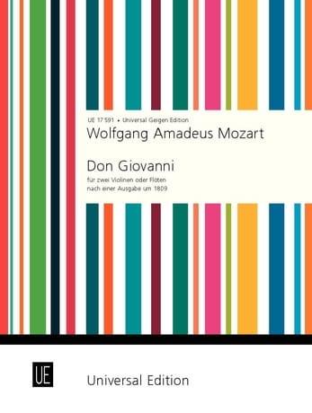 Don Giovanni - 2 Violinen o. Flöten - MOZART - laflutedepan.com