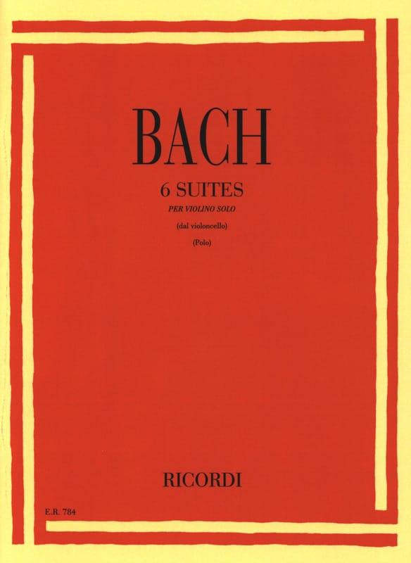 6 Suites Transcrites pour Violon Seul - BACH - laflutedepan.com