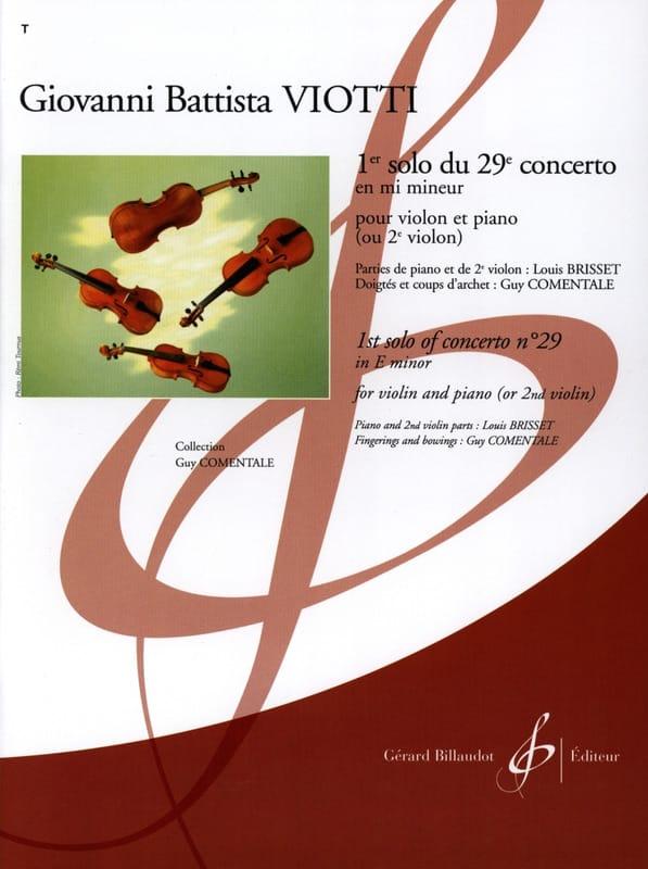 1er Solo du Concerto n° 29 en mi mineur - VIOTTI - laflutedepan.com