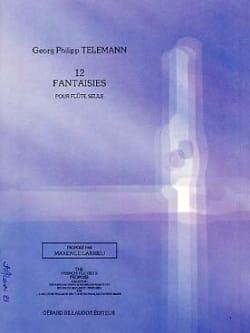 TELEMANN - 12 Fantasies - Solo flute - Partition - di-arezzo.com