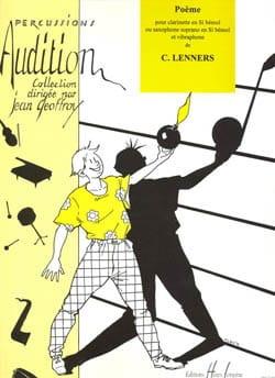 Poème - Clarinette Ou Saxophone Sop. et Vibraphone - laflutedepan.com