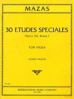 30 Etudes spéciales op. 36 - Book 1 MAZAS Partition laflutedepan