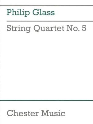 String quartet n° 5 -Score GLASS Partition laflutedepan