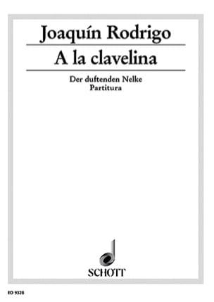 A la clavelina - Partitur RODRIGO Partition laflutedepan