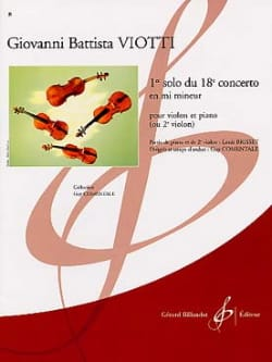 Giovanni Battista Viotti - 1st Solo of the Concerto n ° 18 - Partition - di-arezzo.com