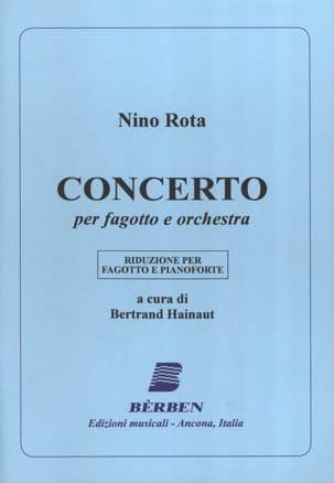 Concerto -Fagotto pianoforte - ROTA - Partition - laflutedepan.com