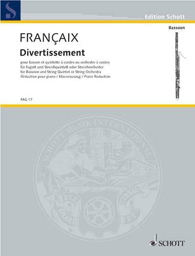 Divertissement -Basson et piano - FRANÇAIX - laflutedepan.com