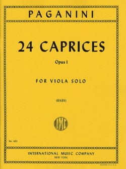 24 Caprices Op. 1 PAGANINI Partition Alto - laflutedepan