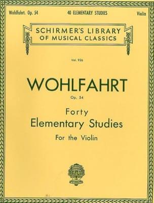 40 Elementary Studies op. 54 Franz Wohlfahrt Partition laflutedepan