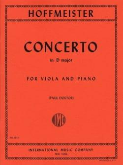 Concerto in D major - Viola HOFFMEISTER Partition Alto - laflutedepan
