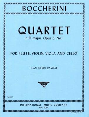 Quartet in D major op. 5 n° 1 -Flute violin viola cello - Parts laflutedepan