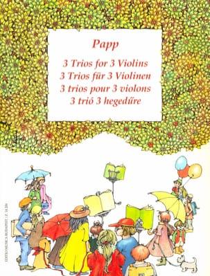 3 Trios pour 3 violons Lajos Papp Partition Violon - laflutedepan