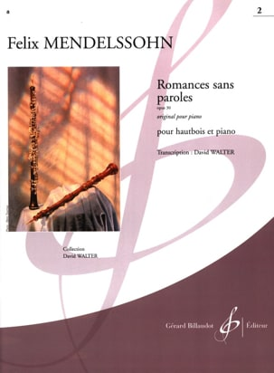 Romances Sans Paroles Volume 2 : Opus 30 MENDELSSOHN laflutedepan