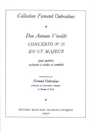 Concerto n° 23 en Ut majeur VIVALDI Partition Guitare - laflutedepan