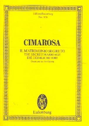 Die Heimliche Ehe - Ouverture - CIMAROSA - laflutedepan.com