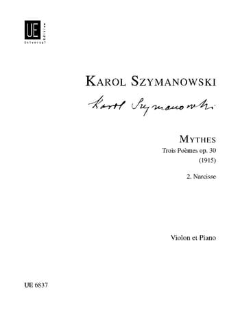 Narcisse op. 30 n° 2 - SZYMANOWSKI - Partition - laflutedepan.com