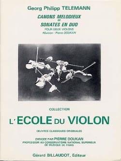 Canons mélodieux ou Sonates en duo TELEMANN Partition laflutedepan
