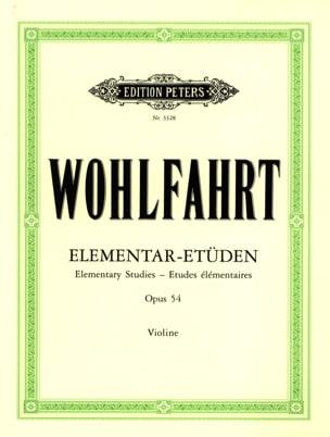 Etudes Elémentaires op. 54 Franz Wohlfahrt Partition laflutedepan