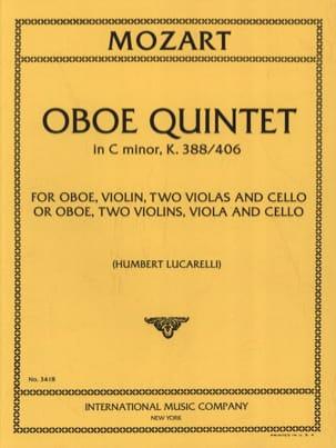 Oboe Quintet C minor KV 388/406 -Parts MOZART Partition laflutedepan