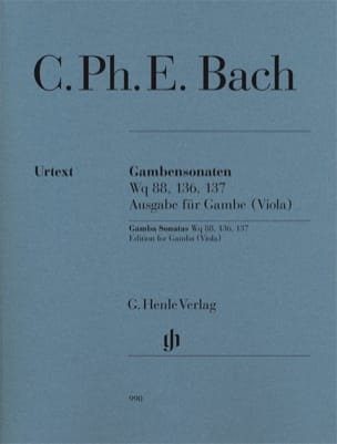 Sonates pour Viole de Gambe Wq 88, 136 & 137 laflutedepan