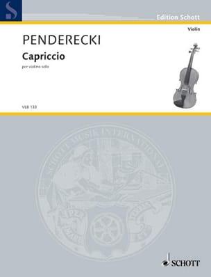 Capriccio PENDERECKI Partition Violon - laflutedepan