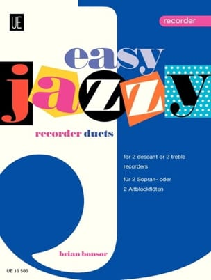 Easy Jazzy Duets - Recorders Brian Bonsor Partition laflutedepan