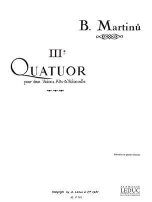 Quatuor à cordes n° 3 - Partition + Parties MARTINU laflutedepan