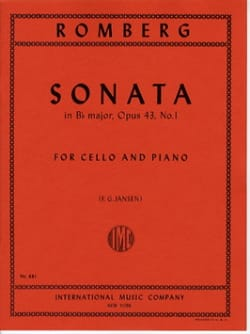 Sonata si bémol majeur op. 43 n° 1 ROMBERG Partition laflutedepan