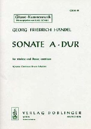 Sonate A-Dur HAENDEL Partition 0 - laflutedepan