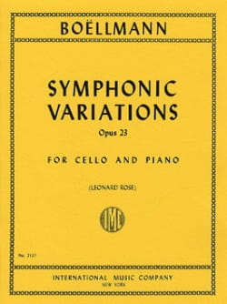 Symphonic Variations op. 23 Léon Boëllmann Partition laflutedepan