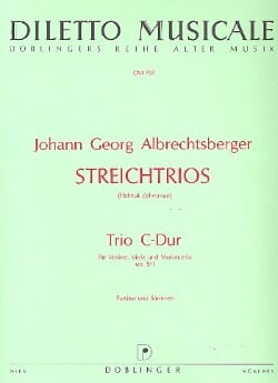 Johann Georg Albrechtsberger - Trio C-Dur op. 9 n° 1 -Partitur + Stimmen - Partition - di-arezzo.fr