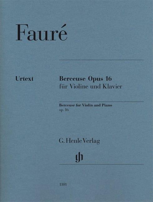 Berceuse Op.16 - FAURÉ - Partition - Violon - laflutedepan.com