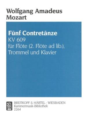 5 Contretänze KV 609 -Flöte Trommel Klavier MOZART laflutedepan