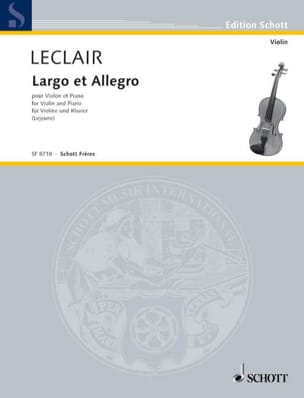 Largo LECLAIR Partition Violon - laflutedepan