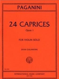 24 Caprices op. 1 Galamian PAGANINI Partition Violon - laflutedepan
