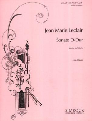 Sonate D-Dur LECLAIR Partition Violon - laflutedepan